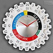 """Reloj de pared de 24 """"estilo h engranajes"""