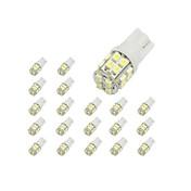 10×T10 20 SMD 1210白色LED車のライトの電球194 168 2825 W5W