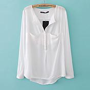 EDINOダークルーズシャツのポケット(ホワイト)