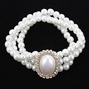 Mujer Perla artificial Cristal joyería de disfraz Joyas Para Fiesta Ocasión especial Cumpleaños Casual