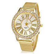 Mujer Reloj de Moda Reloj de Pulsera Reloj de Vestir Cuarzo Diamantes Sintéticos La imitación de diamante Aleación Banda Flor Destello