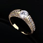Anillos De mujeres Diamantes Sintéticos / Zirconia Cúbica Aleación Aleación 6 / 7 / 8 Como la fotoRepresentación de estilo & de color