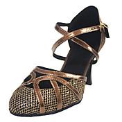 Couro sapatos de dança personalizado da mulher por Sandals Latina / salão de baile