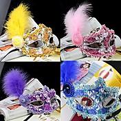 Carnaval Máscara Baile de Máscaras Unisex Halloween Carnaval Año Nuevo Festival / Celebración Disfraces de Halloween Rosado Azul Piscina
