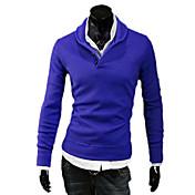 Hombre Camiseta de running - Gris claro, Azul, Gris oscuro Deportes Punto Pulóveres Manga Larga Ropa de Deporte