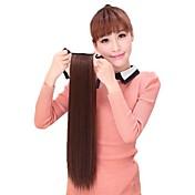 las mujeres cola de caballo cola de caballo sintética de calor peluca recta de fibra resistente a la extensión del pelo del partido de Cosplay barato