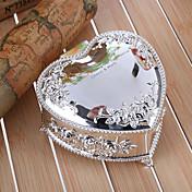 caja de joyería de la aleación de zinc en relieve en forma de corazón floral regalo dama de regalos personalizados