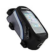ROSWHEEL Bolsa para Cuadro de Bici Bolso del teléfono celular 4.2/5.5/6.2 pulgada Banda reflectante Impermeable Listo para vestir