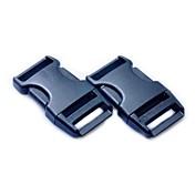 荷物ストラップベルトクリッププラスチック製のサイドリリースバックル - ブラック(2ピースパック)