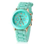 Dámské Módní hodinky Hodinky na běžné nošení Křemenný Silikon Kapela Sladkosti Černá Bílá Modrá Červená Hnědá Zelená RůžováČervená Zelená