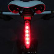 自転車用ライト 後部バイク光 安全ライト LED サイクリング LEDライト 単四電池 ルーメン バッテリー サイクリング-MOON