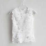 Camiseta Jacquard Algodón Sin Mangas Verano Blanco