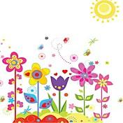 Doudouwo®花柄カラフルな庭の壁のステッカー