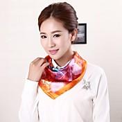 女性の新しい到着の画風ステイン平方均一なスカーフ