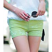 Mujer Sensual Tiro Medio Elástico Shorts Pantalones Primavera Verano Otoño