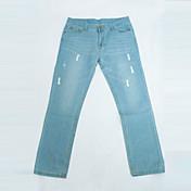 Hombre Moderno Vaqueros Pantalones - Un Color