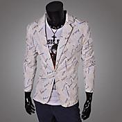 causal de la moda de manga larga chaqueta de impresión de la letra de los hombres TDL
