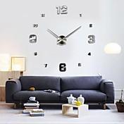 """39 """"wのdiyの3D鏡の小さい数のアクリルのステッカーの壁時計の家の装飾"""