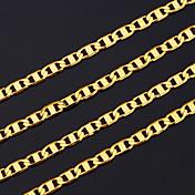 男性用 チェーンネックレス 銅 ゴールドメッキ ゴールドフィールド コスチュームジュエリー ジュエリー 用途 パーティー クリスマスギフト
