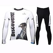 ILPALADINO Calça com Camisa para Ciclismo Homens Manga Longa Moto Conjuntos de Roupas Secagem Rápida Respirável 100% Poliéster Animal