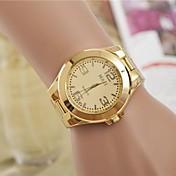 Mujer Reloj de Pulsera Reloj Casual / Cool Aleación Banda Moda / Elegante Plata / Dorado / Un año / SSUO LR626
