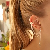 女性用 クリップイヤリング イヤリング 耳の袖口 あり 欧風 ファッション コスチュームジュエリー 銀メッキ 合金 リーフ ジュエリー 用途 パーティー 誕生日 日常 カジュアル