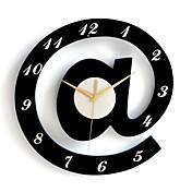 Moderno/Contemporáneo Personajes Reloj de pared,Redondo Interior Reloj