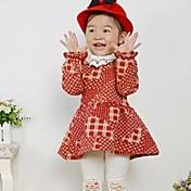 Vestido Chica deCuadrícula-Algodón-Verano / Invierno / Primavera