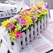 Afdeling Polyester Plastik Tusindfryd Bordblomst Kunstige blomster