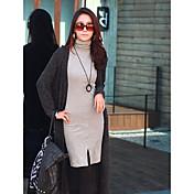 サマンサの女性の新しい韓国のスリムタートルネック長袖OL底入れドレス