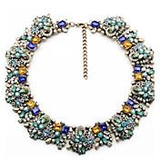 ファッションネックレスヴィンテージの花のネックレス& ペンダントクリスタルチョーカーステートメントネックレス