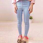 女の子の縦縞ホットスタンピング足鉛筆タイトなパンツ