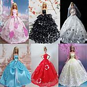 Corte Princesa Vestidos por Muñeca Barbie  por Chica de muñeca de juguete