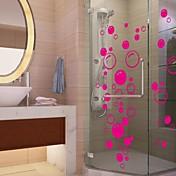 pegatinas de pared Tatuajes de pared, lindo colorido pvc extraíbles La belleza burbuja roja pegatinas de pared.