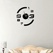 """21 """"h estilo moderno espejo de acrílico relojes de pared adhesivo superficie DIY 3D de salón dormitorio"""