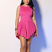 女性のファッションソリッドカラーのドレス