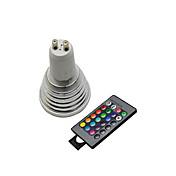 3W GU10 Focos LED 3 leds Control Remoto RGB /lm 2800-3500/6000-6500K AC 100-240V