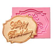 砂糖菓子のための台所のベーキングのための幸せな誕生日カップケーキカードフォンダンケーキ金型の装飾チョコレートモールド
