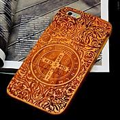 Funda Para Apple iPhone 6 iPhone 6 Plus Diseños En Relieve Funda Trasera Palabra / Frase Dura De madera para iPhone 6s Plus iPhone 6s