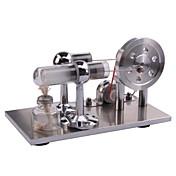 Motor stirling Motor en miniatura Modelo de presentación Juguetes científicos Juguete Educativo Juguetes Cuadrado LED Manualidades