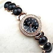 Mujer Reloj Pulsera Reloj Casual Cuarzo La imitación de diamante Aleación Banda Elegantes Negro Blanco Blanco Negro