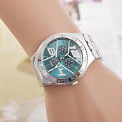 mujeres z.xuan del / la venda de acero de cuarzo analógico reloj de los hombres ocasionales