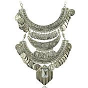 Collar llamativo gitana collar de monedas de joyas boho -Ethnic n1799 cuello tribal