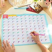 100日カウントダウンカレンダー素敵な実用的な仕事の学習スケジュール(ランダムな色)