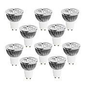 GU10 LEDスポットライト 4 LEDの ハイパワーLED 調光可能 温白色 クールホワイト ナチュラルホワイト 400-450lm 2800-3000/4000-4500/6000-6500K 交流220から240V