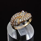 党の金は、文のリングに2015の熱い販売の製品婚約指輪をメッキ