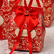 立方体のカード紙の賛成の弓と弓好きボックス - 12結婚式の好意