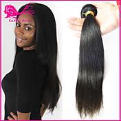 3pcs lot al por mayor virginal del pelo recto brasileño sin procesar ningún enredo y suave