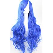 Mujer Pelucas sintéticas Sin Tapa Rizado Azul Peluca de cosplay Las pelucas del traje