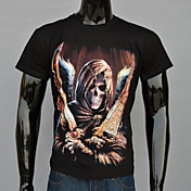 MEN Tシャツ ( コットン/オーガニックコットン/ポリエステル ) カジュアル/パーティー/仕事 ラウンド - 半袖